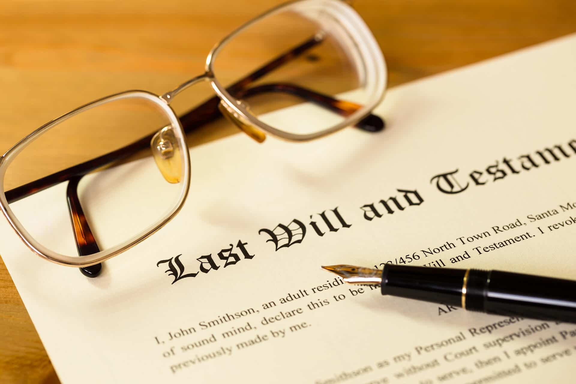 Will writing, probate and estate administration, and testament